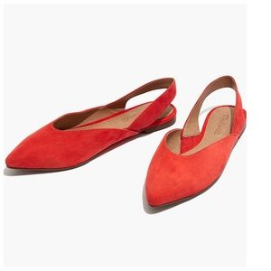 The Ava Slingback Flat in Suede Size 7 NEW